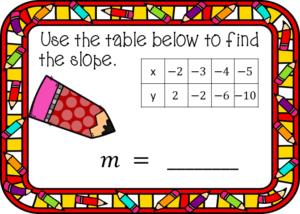digital task cards, instant feedback. #algebra #slope