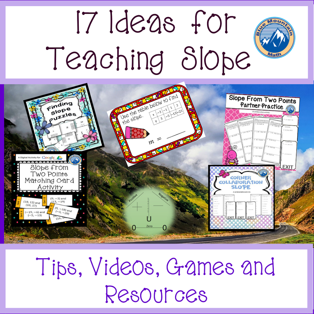 17 Ideas for Teaching Slope