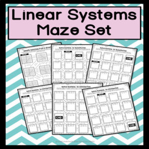 linear system maze activity