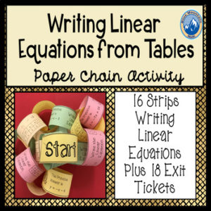 writing lineaar equations from tables