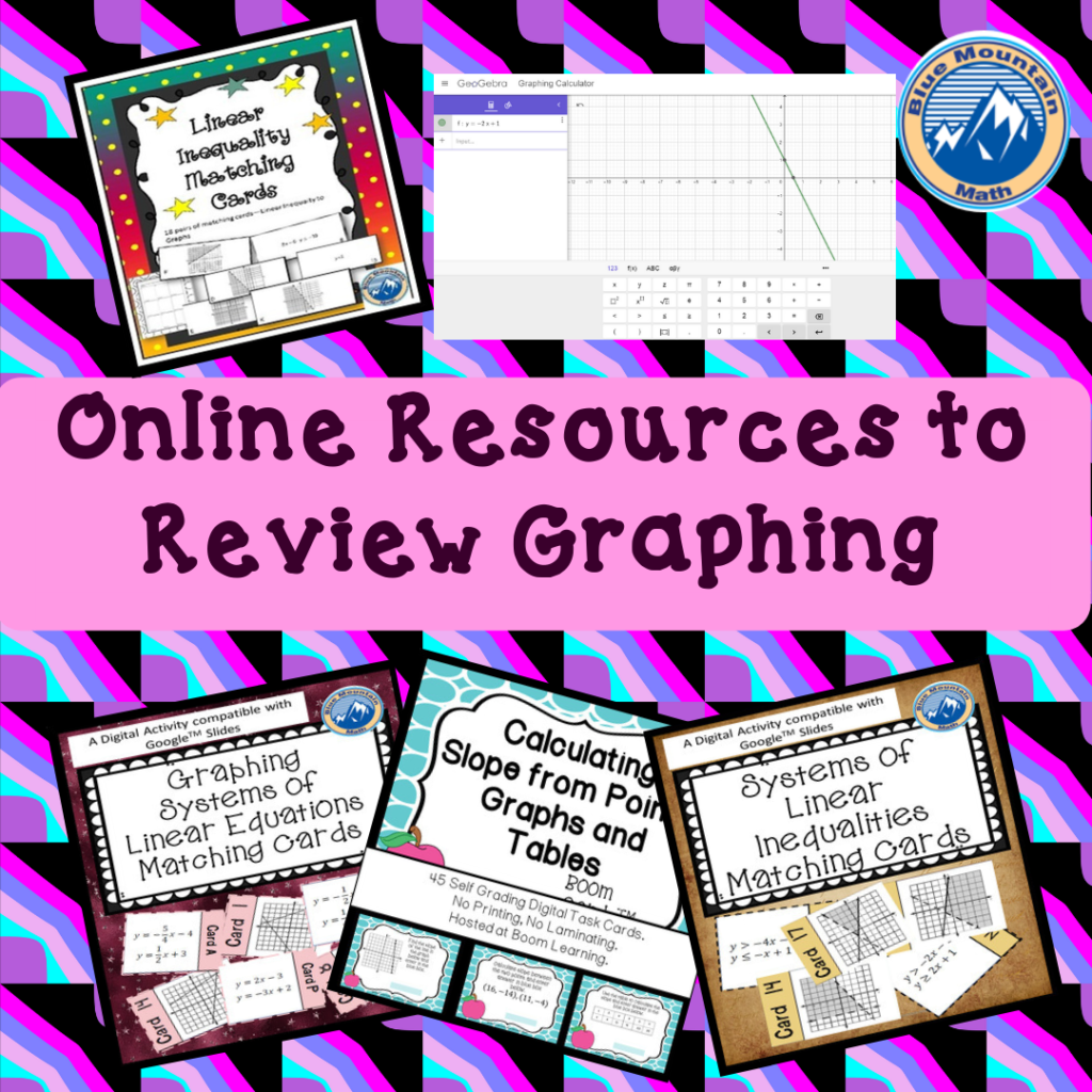 Review Graphing Online Resources - Blue Mountain Math